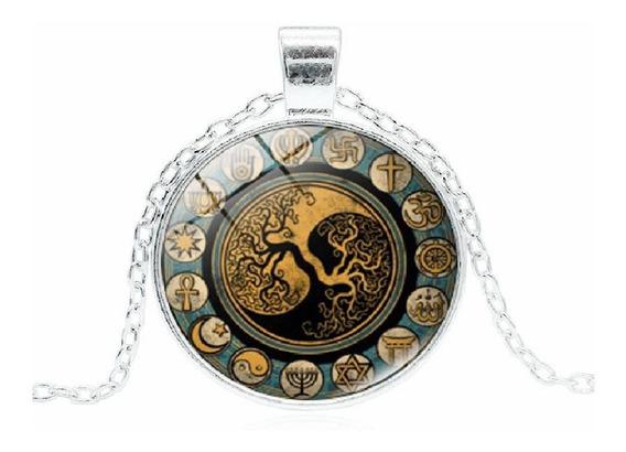 Precioso Collar De Cabujon Con Arbol De La Vida 4 Diseños !!