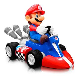 Mario Kart Super Mario Bros Figuras Con Carro Juguete