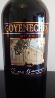 Vino Goyenechea 5ta Generación Malbec 2006