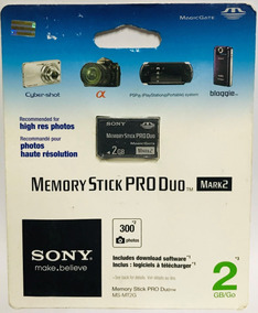 Sony Memory Stick Pro Duo Mark2 2gb Ms-mt2g Original