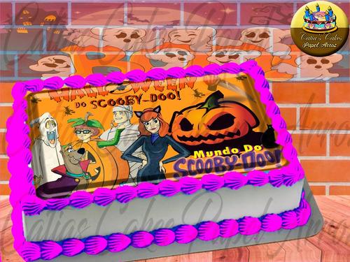 Papel De Arroz Comestível P/ Bolo Halloween Scooby Doo