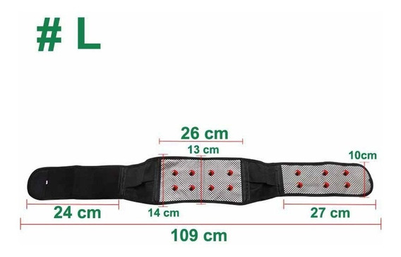 Faja Turmalina Magnetica Lumbar Dolor Cintura