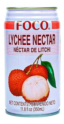 Bebida Marca Foco Sabor Lychee De 350ml / 5 Cajas C/24 Pzs