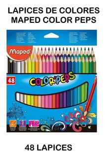 Lapices De Colores Maped Color Peps 48 Lapices Triangulares