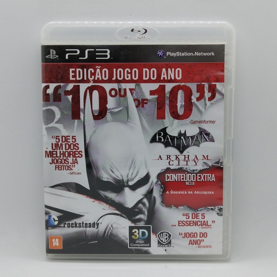 Batman Arkham City Game Of The Year Goty Ps3 Midia Fisica