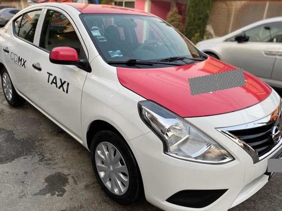 Nissan Versa 1.6 Drive Mt 2018 C/placas Taxi Unico Dueño