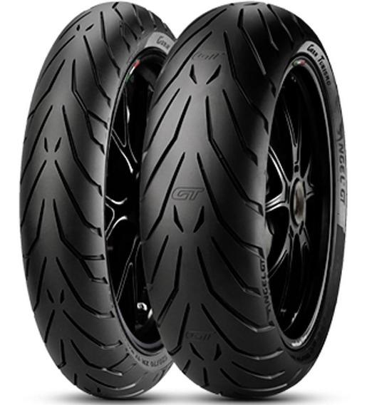 Par Pneu Cb 500 F Xj6 120/70r17 + 170/60r17 Angel Gt Pirelli