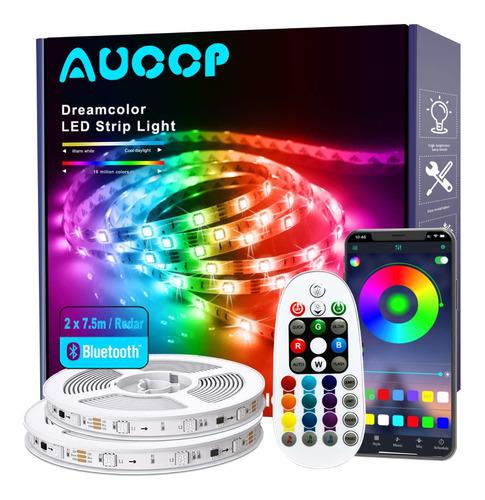 Imagen 1 de 8 de Tiras De Luz Led 15m Arcoíris Rgbic Smart Luzes App Control
