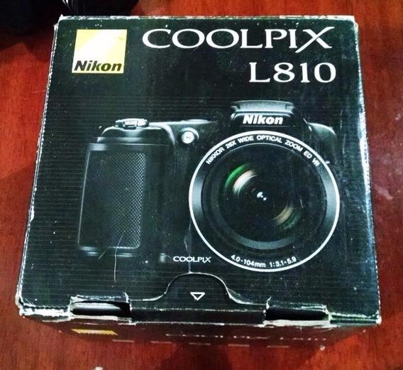 Câmera Nikon Coolpix L810+ Grátis Baterias E Carregador Sony