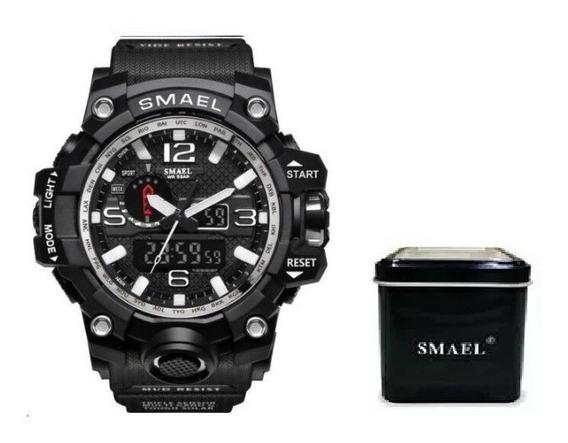 Relógio Preto Tipo Militar Smael Pronta Entrega