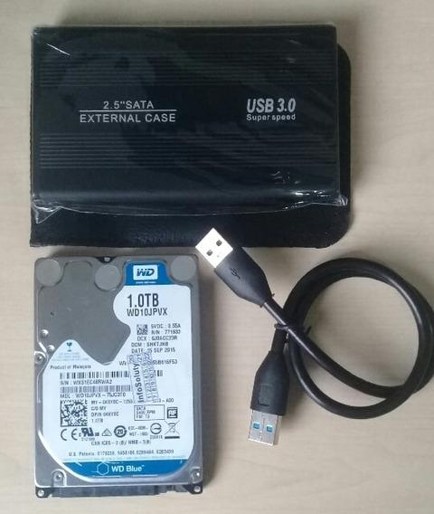 Hd Externo 1tb 2.5 Sata Com Interface 3.0 Usb