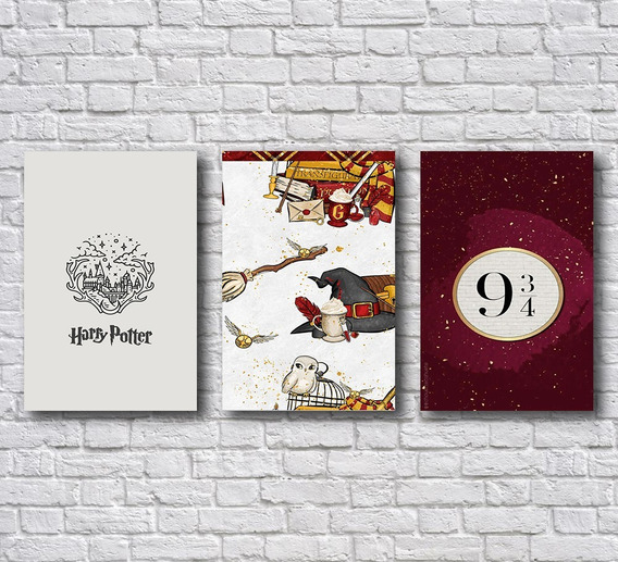 Placas Decorativas Harry Potter - Plataforma Item Para Casa