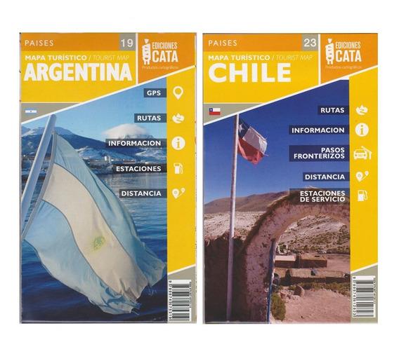 Kit Com Dois Mapas Argentina E Chile Rodoviário