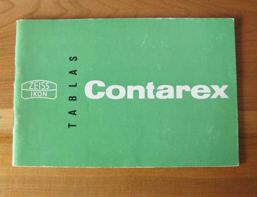 Contarex Tabla De Lentes Zeiss Ikon