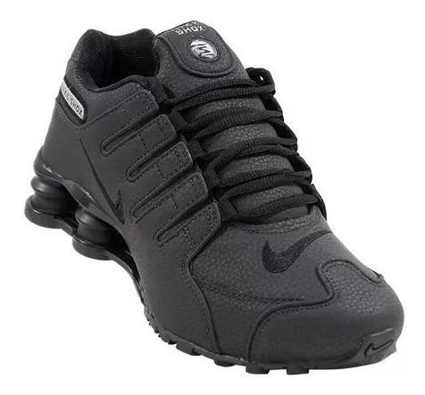 2 Pares Tênis Nike Shox Nz 4 Molas Preto E Azul