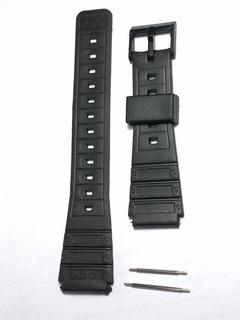 Pulseira Borracha Relógios Casio / Outros 17mm Grátis Pinos