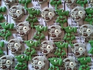 Planta Vs Zombie Plantas Zombies Paleta Chocolate Chupetin