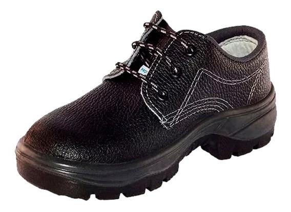 Calcado Epi Modelo Sapato Amarril Com Bico De Aco