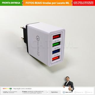 2x Carregador Rápido Tomada 4x Usb Samsung Motorola iPhone