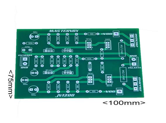 Placa Para Montar Amplificador 1500w Rms Com C5200 E A1943