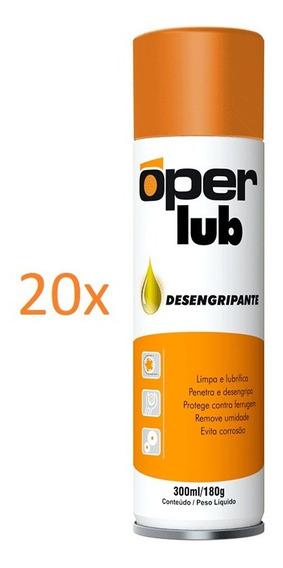 20 Óleos Desengripante 300ml Oper Lub Lubrifica E Desoxida