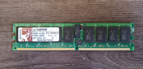 Memória Servidor Kingston Kth-xw9400k2 8gb Ddr 2 667 Mhz Ecc