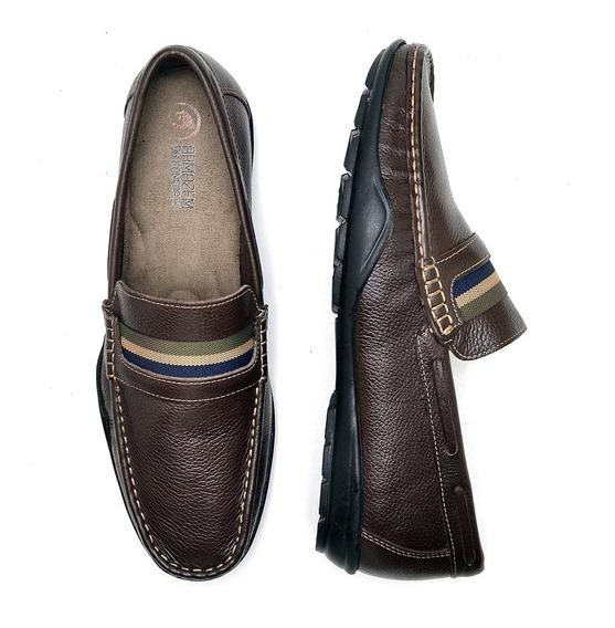 Sapato Masculino Mocassim Couro Legítimo Macio - 07 Cores