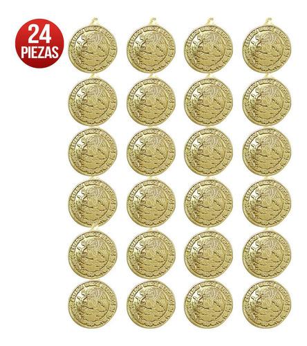 Imagen 1 de 3 de Escudo Nacional Mexicano Plástico 3d Oro Med 25cm Mylin 24pz