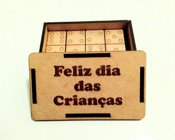10 Jogos Dominó *lembrancinha Personalizada Em Madeira Mdf*