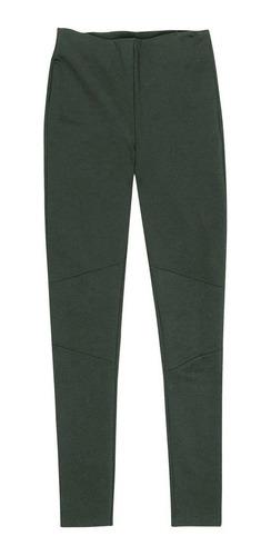 Calça Legging Em Malha Ponto Roma - Verde