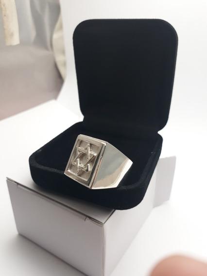Anel De Prata 950k Legítima Estrela De Davi Salomão Oferta