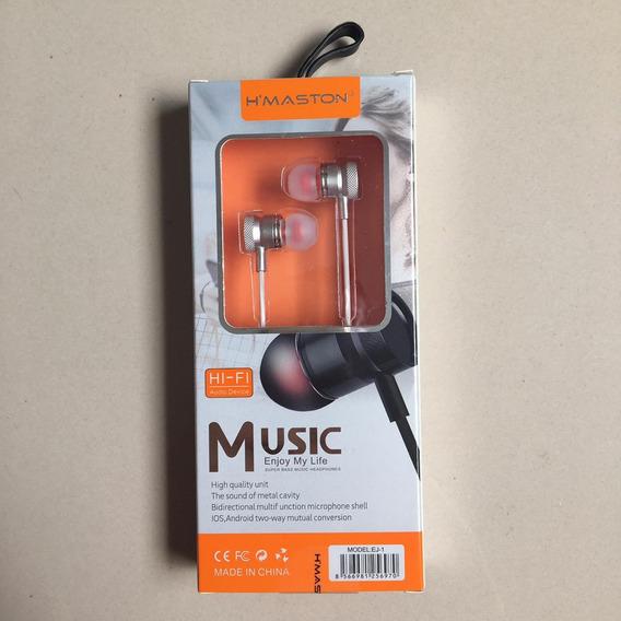 Fone De Ouvido Lelong Super Bass Com Microfone Original