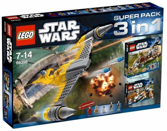 Lego Nave Star Wars 66396 Superpack 3en1 Sets 7877 7929 7913