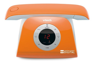 Telefone Vtech Retrô Phone Sem Fio Id. Cham Viva-voz Laranja