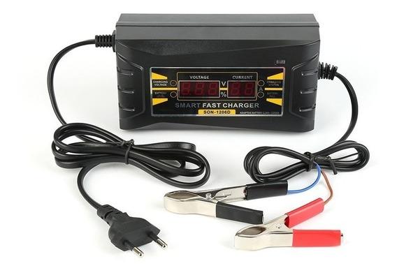 Carregador Baterias Inteligente Digital 12v X 6a Carro Moto