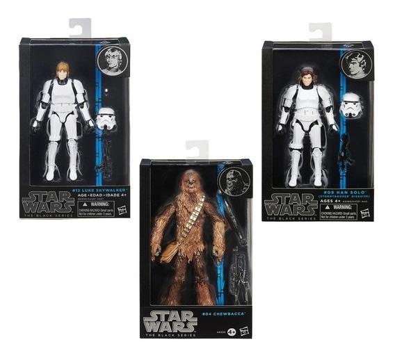 Star Wars Black Series Han Solo Luke Skywalker Chewbacca
