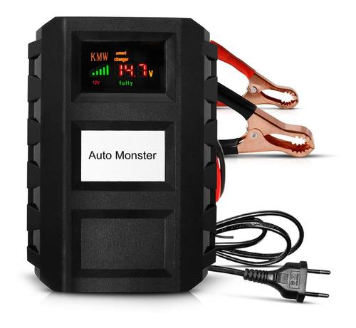 Imagem 1 de 6 de Carregador Bateria Digital Portátil Automotivo E Moto 7a 12v