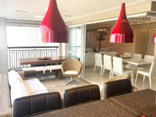 Apartamento Alto Padrão Em Condomínio Resort, Com 3 Suítes À Venda, 177 M² Por R$ 1.950.000 - Campestre - Santo André/sp - Ap1551