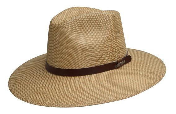 Sombrero Tipo Panamá Explorer Casual Para Hombre Mod. Luciano Tela De Cuadritos Material Rígido De Rio Grande