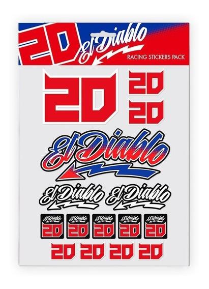 Pack Stickers Fabio Quartararo Xl Moto Gp Fq20