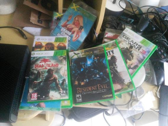 Xbox 360 Ultra Slim Desbloqueado + 11 Jogos + 2 Controles