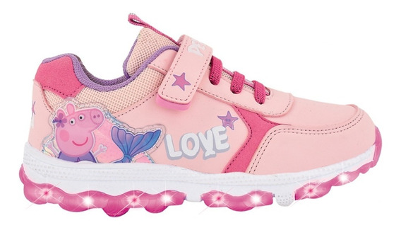 Zapatillas Peppa Pig Con Luces Footy Multiluces Mundo Manias