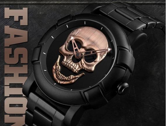 Relógio Masculino Caveira Crânio Original / Pronta Entrega