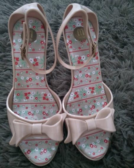 Sandália Salto Baixo Rosé, Melissa, 38