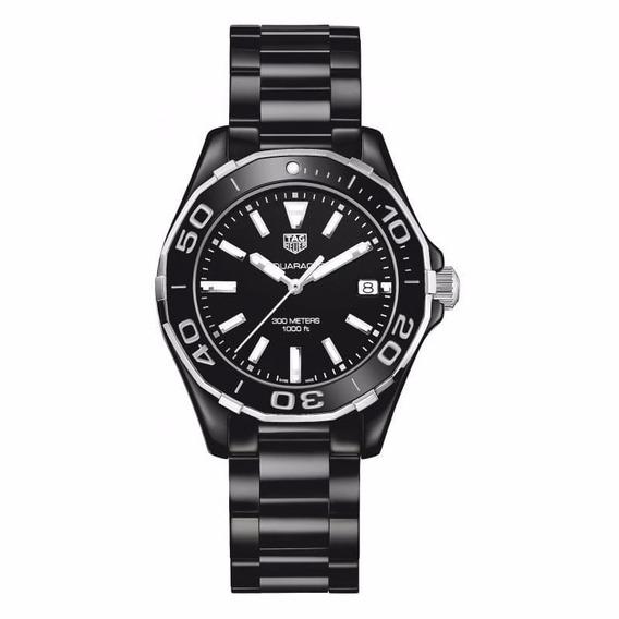 Reloj Tag Heuer Aquaracer Cerámica Negra Mujer Way1390.bh071