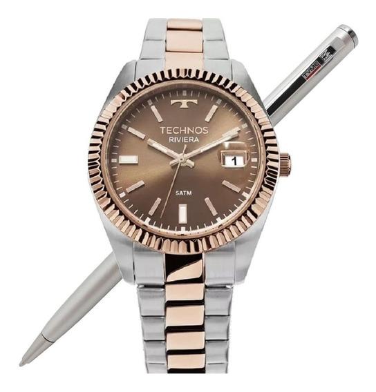 Relógio Technos Feminino Riviera Misto 2115kts/3m - Promo Nf