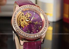 Relógio Luxo Feminino Winner Mecânico Rl8009m3r3