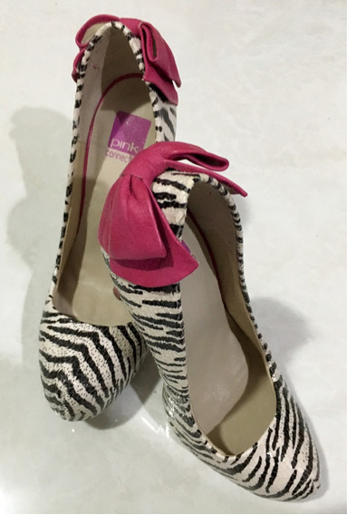 Scarpin Zebra Pink Connection