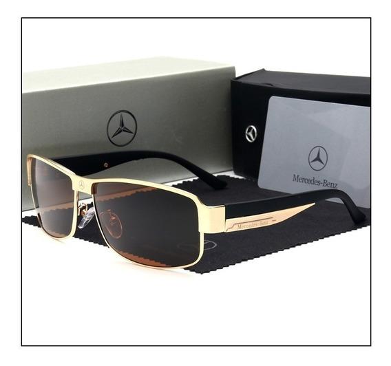 Óculos Sol Mercedes- Benz Original Polarizado Uv400- Gold §