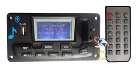 Placa Decodificador Mp3 Lcd /usb/sd/bluetooth/muda De Pasta